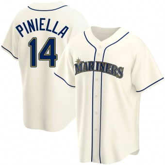 Men's Lou Piniella Seattle Cream Replica Alternate Baseball Jersey (Unsigned No Brands/Logos)