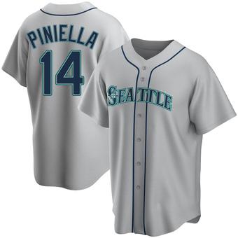 Men's Lou Piniella Seattle Gray Replica Road Baseball Jersey (Unsigned No Brands/Logos)