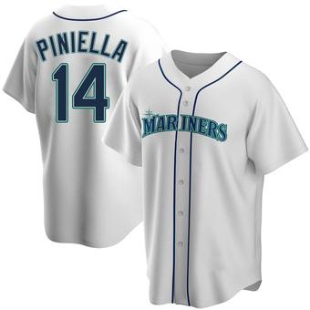 Men's Lou Piniella Seattle White Replica Home Baseball Jersey (Unsigned No Brands/Logos)