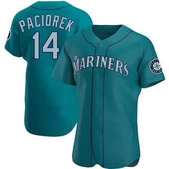 Men's Tom Paciorek Seattle Aqua Authentic Alternate Baseball Jersey (Unsigned No Brands/Logos)