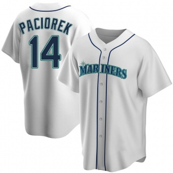 Men's Tom Paciorek Seattle White Replica Home Baseball Jersey (Unsigned No Brands/Logos)