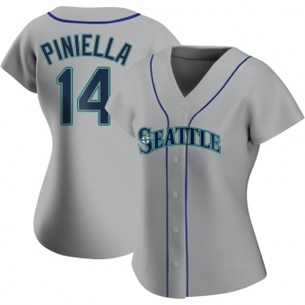 Women's Lou Piniella Seattle Gray Authentic Road Baseball Jersey (Unsigned No Brands/Logos)