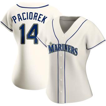 Women's Tom Paciorek Seattle Cream Replica Alternate Baseball Jersey (Unsigned No Brands/Logos)