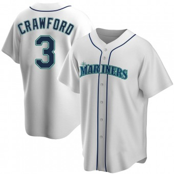 Youth J.P. Crawford Seattle White Replica Home Baseball Jersey (Unsigned No Brands/Logos)