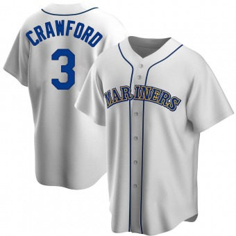 Youth J.P. Crawford Seattle White Replica Home Cooperstown Collection Baseball Jersey (Unsigned No Brands/Logos)