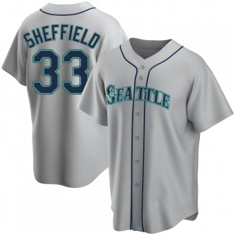 Youth Justus Sheffield Seattle Gray Replica Road Baseball Jersey (Unsigned No Brands/Logos)