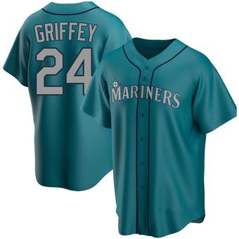 Youth Ken Griffey Seattle Aqua Replica Alternate Baseball Jersey (Unsigned No Brands/Logos)