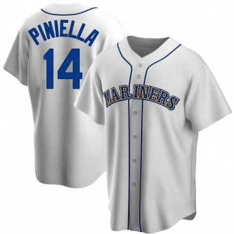 Youth Lou Piniella Seattle White Replica Home Cooperstown Collection Baseball Jersey (Unsigned No Brands/Logos)