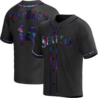 Youth Tom Paciorek Seattle Black Holographic Replica Alternate Baseball Jersey (Unsigned No Brands/Logos)